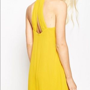 ASOS Dresses - ASOS High Neck Swing Maxi Dress - Yellow